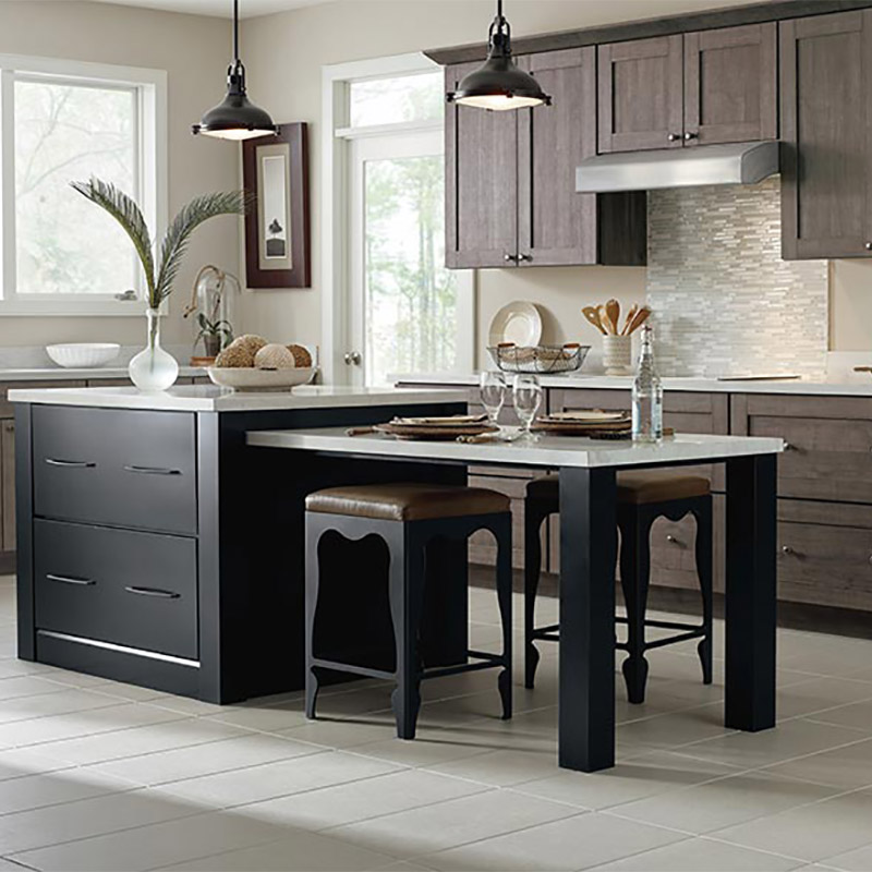 Prefab Dark Kitchen Cabinets